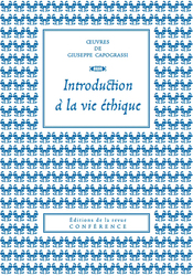 Introduction à la vie éthique de Giuseppe Capograssi